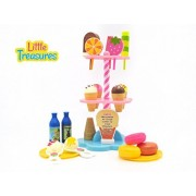 Sweet Treats ice-cream for kids of age 3+ tall stand feature realistic pretend toy sweet items of sundaes, ice creams, candies, flavored bottles and food in a deliciously craving, fun game