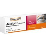 ratiopharm GmbH ACICLOVIR-ratiopharm Lippenherpescreme 2 g