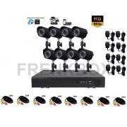 Kit videosorveglianza DVR 8 canali p2p Cloud Telecamere HD da esterno