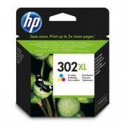 HP ketridž 302xl high yield tri-color original ink cartridge f6u67ae