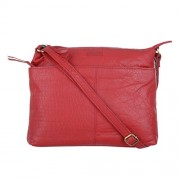 Le Craf Kitty Red Genuine Leather Stylish Sling Cross Body-Bag for Womens and Girls