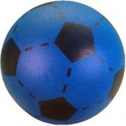 Set van 3 foam softbal voetballen blauw 20 cm - Zachte speelgoed voetbal