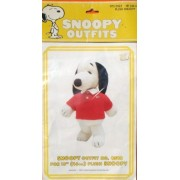 """Peanuts Snoopys Wardrobe Outfit For 18"""" Plush Snoopy Red Preppy Shirt W Snoopy Logo"""
