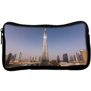 Snoogg Burj Khalifa Poly Canvas Student Pen Pencil Case Coin Purse Utility Pouch Cosmetic Makeup Bag