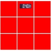 Granny Smith Personal Bathroom Digital 8mm Thick Square Glass Light Weight Step On Weight Machine Weighing Scale(Red)
