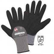 Handschuhe NITRIL DOUBLE GRIP schwarz / grau, VE 12 Paar Größe 8 (M)