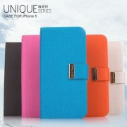 Kalaideng Unique Series PU Leather Stand Case For Apple iPhone 5 / 5S - Pink