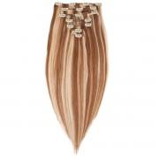 Rapunzel® Hair extensions Clip-on Set Original 7 pieces M5.4/7.8 Strawberry Brown Mix 30 cm