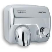 Asciugamani elettrico MDC Acciaio Inox Lucido con pulsante ad aria calda con resistenza, bocchetta girevole, antifurto e antivandalo Modello E05C