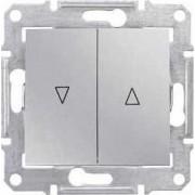 SEDNA Buton acționare storuri Simbol Sus-jos 10A IP20 Aluminiu SDN1300160 - Schneider Electric
