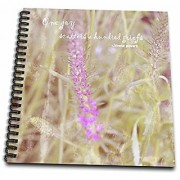 3dRose Vintage Purple Flower Grief Quote Flowers Sympathy-Memory Book 12 by 12 (db_29440_2)