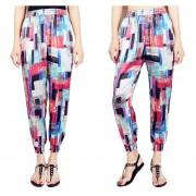Suelto Pantalones De Pierna Ancha /harén Con Bolsillos Estampado Floral -Bandera -Geométrica