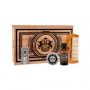 DEAR BARBER Beard Oil set cadou Ulei de barba 30 ml + Balsam de barba Beard Balm 30 ml + Pieptene de barba Beard Comb 1 buc pentru bărbați