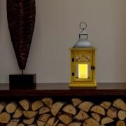 Elemes LED időzíthető világító lámpás rusztikus fa 44 cm