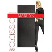 Långa leggings i bomull Classic 180 DEN från Marilyn sand M/L