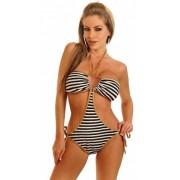 Costum de baie intreg model zebra
