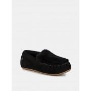 Emu černé podzimní mokasíny Cairns Reerse Fur Black/Noir