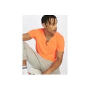 Urban Classics / t-shirt Neon V-Neck in oranje - Heren - Oranje - Grootte: Large
