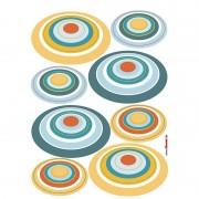 Sticker perete cu cercuri retro