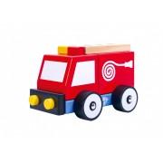 Masina de Pompieri din lemn Tooky Toy