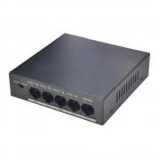 Switch cu 4 porturi PoE Dahua PFS3005-4P-58