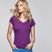Camiseta de mujer con cuello de pico Victoria
