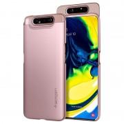 Capa Spigen Thin Fit para Samsung Galaxy A80 - Cor-de-Rosa Dourado