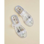 Ted Baker Vanilla Double Strap Jelly Sandals - Ivory - Size: UK 3 (EU 36)
