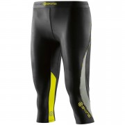 Skins DNAmic Women's Capri Tights - Black/Limoncello - XS - Black/Yellow