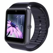 Ceas Smartwatch cu Telefon iUni GT08 Bluetooth Camera 1.3 MP Ecran LCD antizgarieturi Black Bonus Bratara Roca Vulcanica unisex