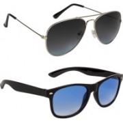 Marabous Aviator, Wayfarer Sunglasses(Black, Grey, Blue)