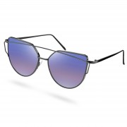 Paul Riley Lunettes de soleil polarisées à verres violets et monture au design abstrait