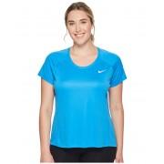 Nike Dry Miler Short Sleeve Running Top (Size 1X-3X) Light Photo Blue