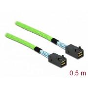 Cablu PCI Express Mini SAS HD SFF-8673 la SFF-8673 0.5m, Delock 86624