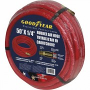 Goodyear Red Rubber Air Hose - 1/4 Inch x 50ft., 250 PSI, Model 12570