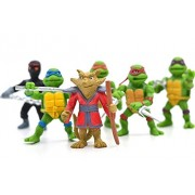 Teenage Mutant Ninja Turtles Ninja Master Splinter Leonardo Raphael Michelangelo Action Figure Toys 6pcs set