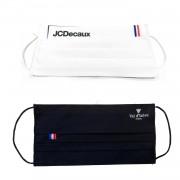 MASQUES DIRECT 100 Masques personnalisables en tissu lavables drapeaux français - testés 50 lavages