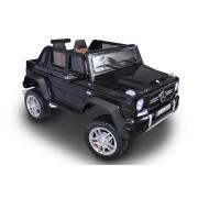 Mașinuță electrică pentru copii Ride-On Maybach G650, ecran LCD cu intrare USB / TF, control de la distanță 2.4Ghz, baterie 2 x 12V / 7AH, 4X MOTOR, scaun dublu din piele, roți EVA, negru