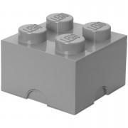 Lego Ladrillo de almacenamiento LEGO (4 espigas) - Gris