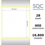 Etichette SQC - Carta patinata (bobina), formato 95 x 105