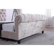 Alanya Sleigh Chesterfield Velvet Ottoman Bed - 2 Sizes!