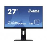 LED-monitor 68.6 cm (27 inch) Iiyama XUB2790HS-B1 Energielabel A 1920 x 1080 pix Full HD 5 ms DVI, HDMI, VGA, Hoofdtelefoon (3.5 mm jackplug) AH-IPS LED