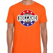 Bellatio Decorations Have fear Holland is here supporter shirt / kleding met sterren embleem oranje voor heren