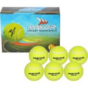 Mayor Street Cricket Tennis Balls Pack of 6 (Yellow)