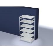 Discountoffice Systeemstelling Grondveld HxBxD 2500x1360x835mm Vakl. 240kg