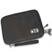Jern Electronic Organizer Gadget Travel Bag USB Earphone Case Digital Organization Waterproof Multifunction Cable Storage Bag (Black)(Black)