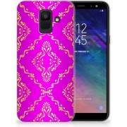 Samsung Galaxy A6 (2018) Uniek TPU Hoesje Barok Roze