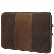 dbramante1928 Leather Case for up to 16 Inch Laptops and Notebooks - Hunter Brown Stripe