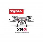 Drone X8G De Syma Con Camara FULLHD 8mpx, Soporta Camara GOPRO, Inlcuye 4gb De Memoria-Plata