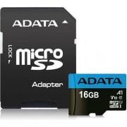 Card de memorie ADATA Premier R100 16GB Micro SDHC Clasa 10 UHS-I U1 + Adaptor SD